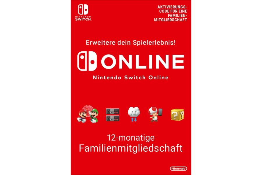 Nintendo Switch Online - 12-monatige Familien-Mitgliedschaft