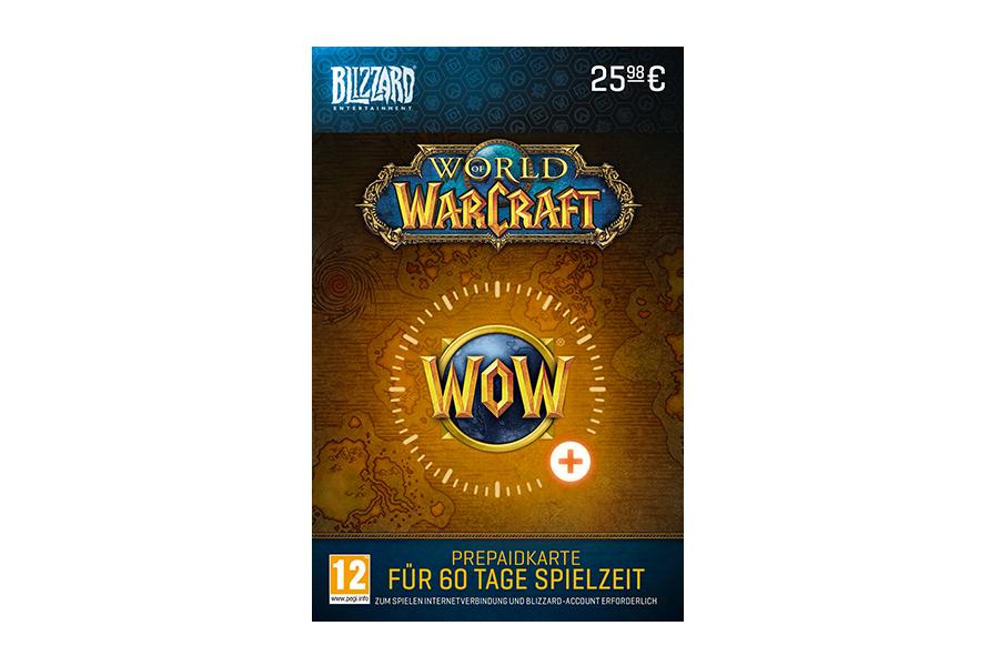 World of Warcraft Prepaidkarte für 60 Tage Spielzeit