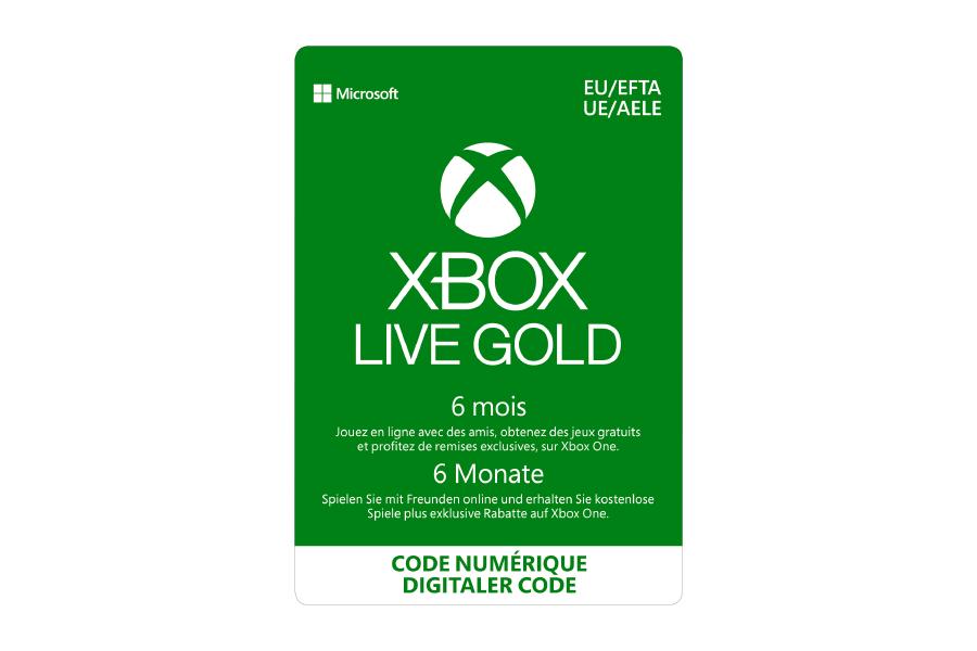 Xbox Live Gold Abonnement - 6 Monate